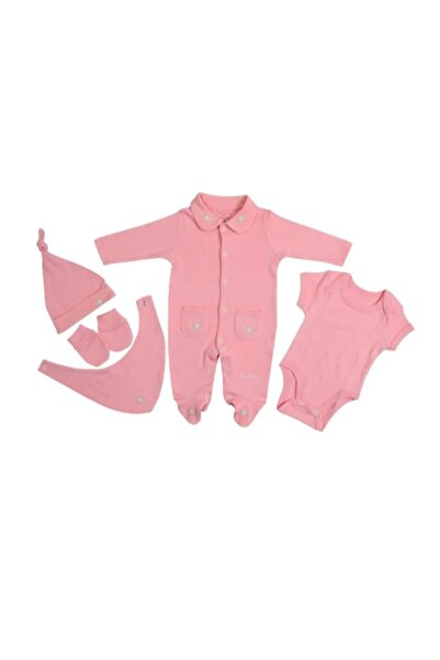 Pierre Cardin Baby Pierre Cardin Çiçekli Pc Kız Bebek Tulum Set Pembe
