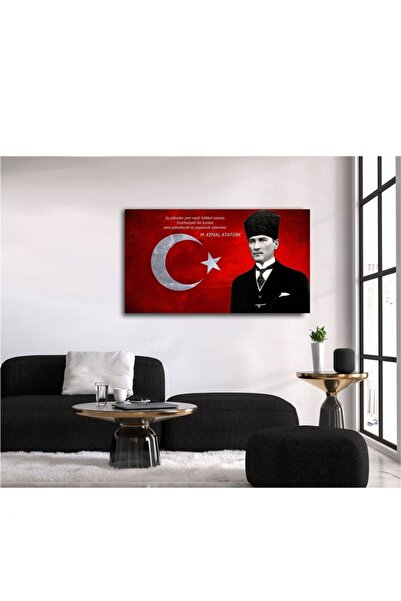 TABLO KANVAS Ataturk Istikbal Makam Panosu Kanvas Tablo 60x80 Cm