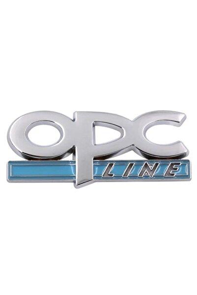 trendgaraj Opel Opc Line Mavi Metal Logo