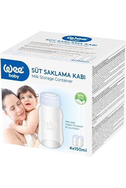 Wee Baby Süt Saklama Kabı 4x150 ml