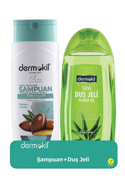 Dermokil Argan Şampuan 400 ml + Aloe Vera Duş Jeli 500 ml 8697916004233