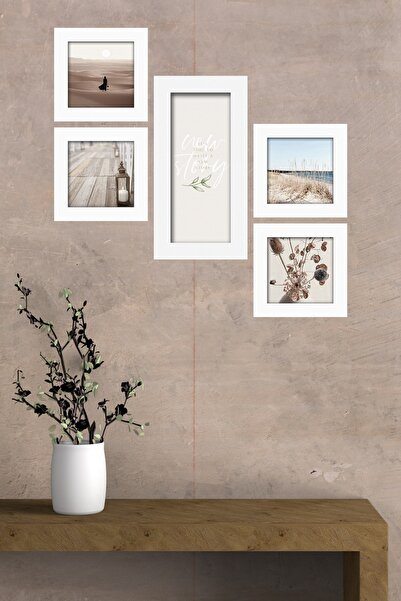 Cadran Collage Style 5 Parçalı Mdf Tablo Atf275