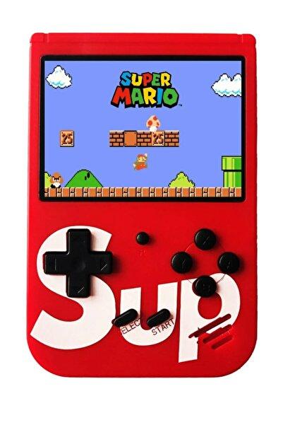 SUP 400 Nostalji Oyunlu Mini Atari Gameboy Ve Gamebox Oyun Konsolu Kırmızı
