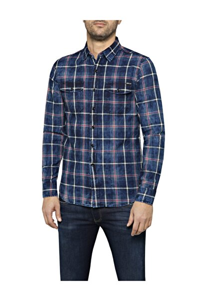 Replay Indıgo Flannel Check