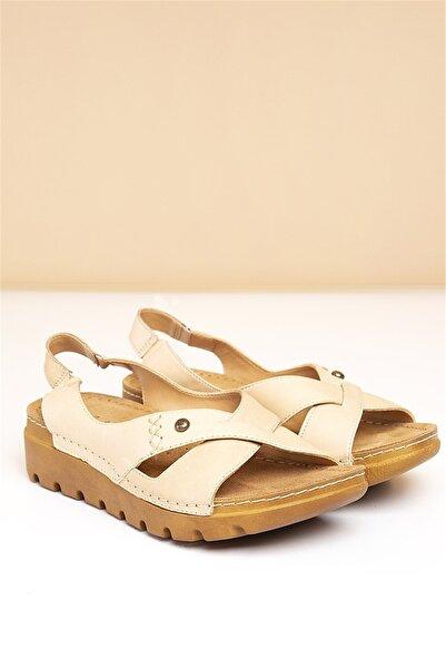 Pierre Cardin PC-1380 Bej Kadın Sandalet
