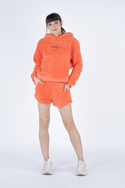 PushOver Kadın Turuncu 2'li Premium Pijama Takımı