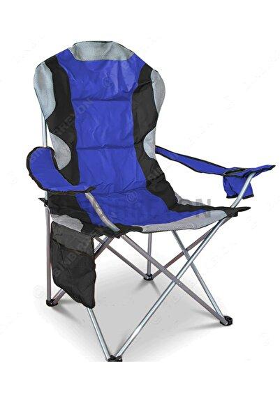 Binbirreyon Kamp Sandalyesi Kamp Koltuğu Xxl Kalın Profil 120kg Mavi Renk Ha043-1