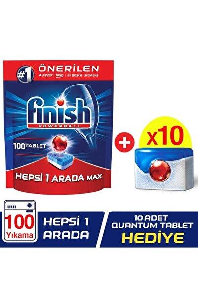 Finish Bulaşık Makinesi Deterjanı Hepsi Bir Arada Tablet 100'lü + Quantum 1 Tablet 10 Adet