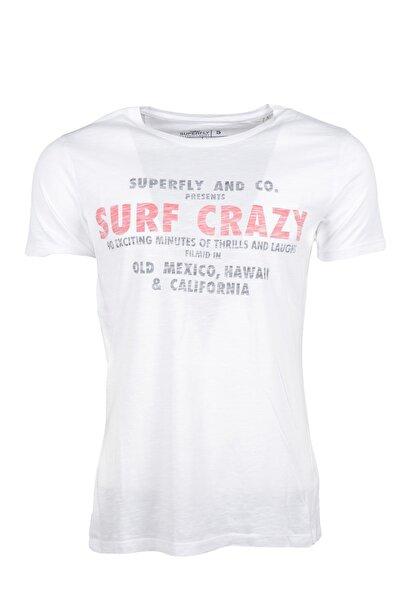 20557 0 Yaka Surf Crazy Yazılı Erkek Tshırt