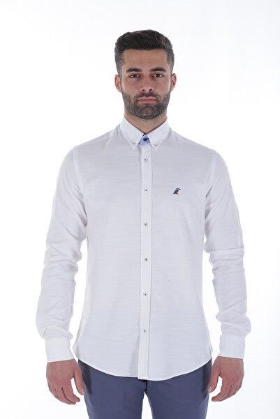 Diandor Uzun Kollu Regular Fit Erkek Gömlek Beyaz/White 1822014