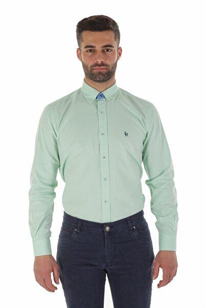 Diandor Uzun Kollu Erkek Gömlek Mint/Aqua 1912007