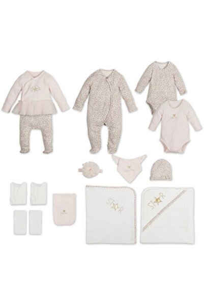 Kız Bebek Pembe 15 Parça Leopar Desenli Hastane Seti