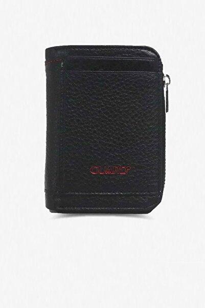 GUARD Mini Fermuarlı Siyah Cüzdan - 5260