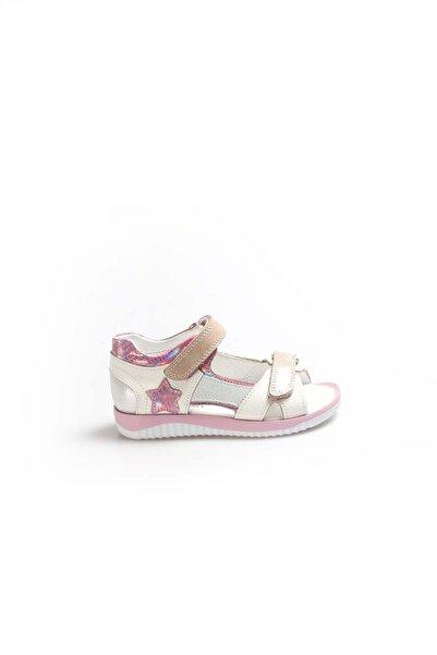 FAST STEP Hakiki Deri Beyaz Saten Unisex Çocuk Klasik Sandalet 006pa700