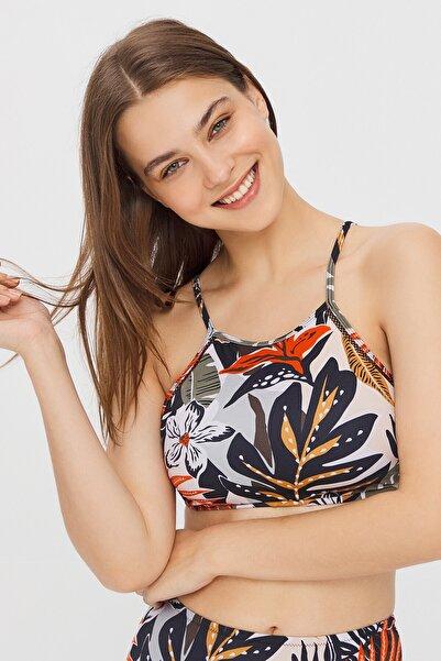 Penti Çok Renkli Giza Halter Bikini Üstü
