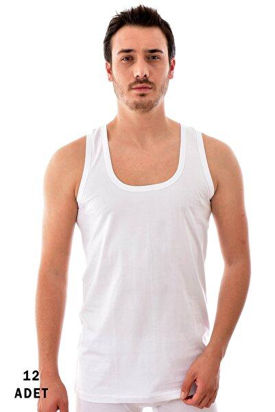 Tutku 12 Adet 0101 Erkek Penye Atlet Beyaz