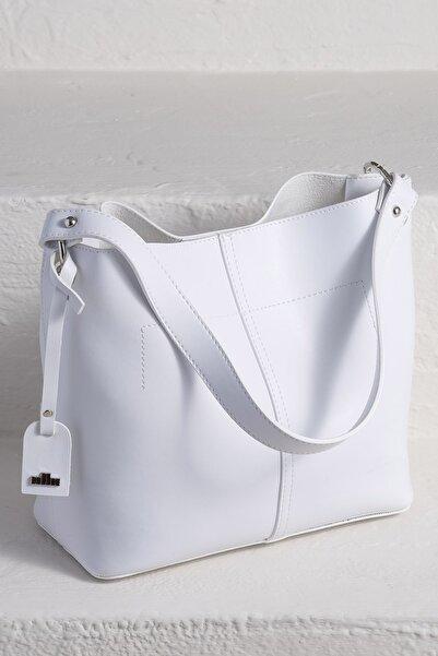 Elle Shoes Helga-1 Beyaz Kadın  Omuz Çantası 20YYC2641