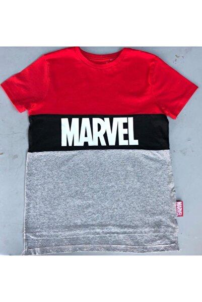 MARVEL Erkek Çocuk Kırmızı Gri Baskılı T-shırt