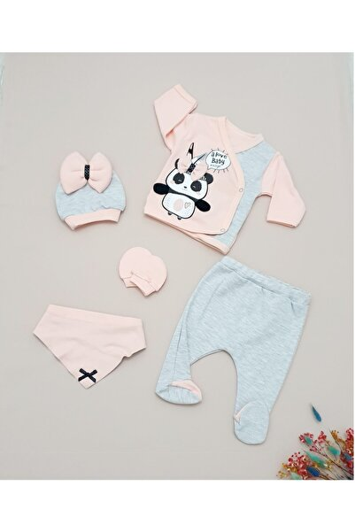 Panda Kız 5'li Zıbın Set