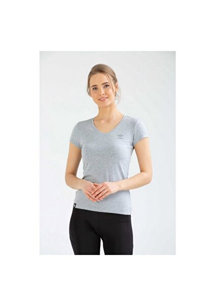 Kadın Gri Spor T-shirt Ecc  Vf-0021