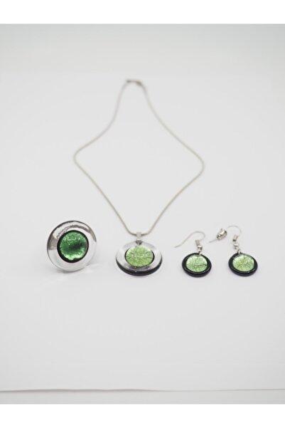 NK Artglass Kadın Yeşil Venecia Set