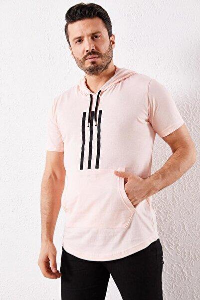 Zafoni Erkek Pembe T-shirt