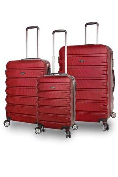 1116 ABS Sert Kabuk 3'lü Valiz Bavul Seti