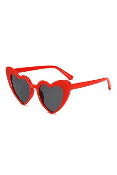 Steam Kadın Kırmızı Kalpli Güneş Gözlüğü