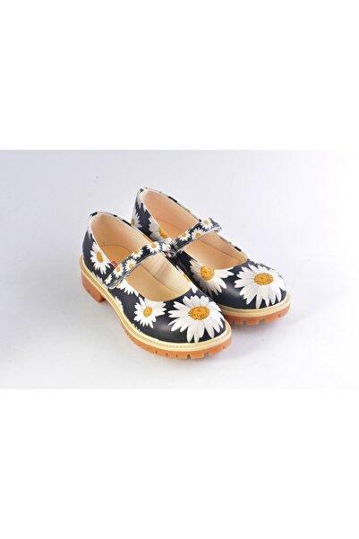 Goby Kadın Özel Tasarım  Baskılı El Yapımı Sandalet