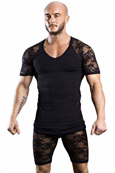 Doreanse Erkek Siyah  T-shirt 2552