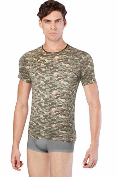 Doreanse Erkek Haki Erkek Kamuflaj T-shirt 2560