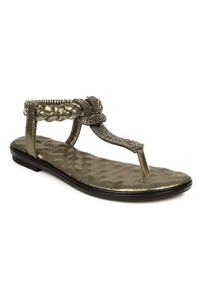 Twigy Kadın Platin  Parmak Arası Sandalet Pp0715 Tw  Maria