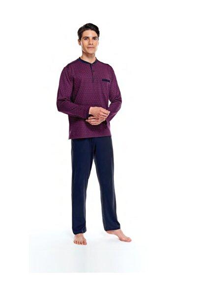Çift Kaplan 8530 Erkek Uzun Kol Jakarlı Patlı Pijama Takımı