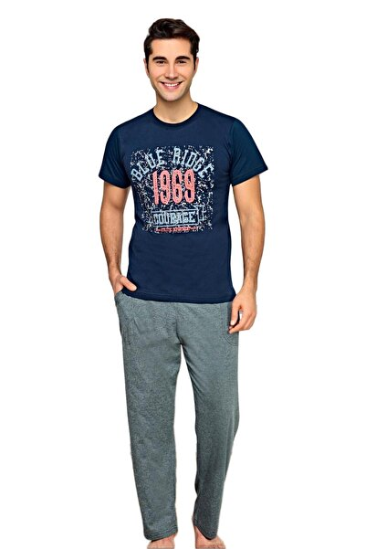 walkie Tyson Lacivert/gri Pijama Takımı