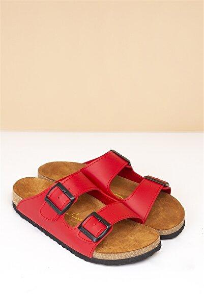 Pierre Cardin Pc-5072 Kırmızı Kadın Terlik