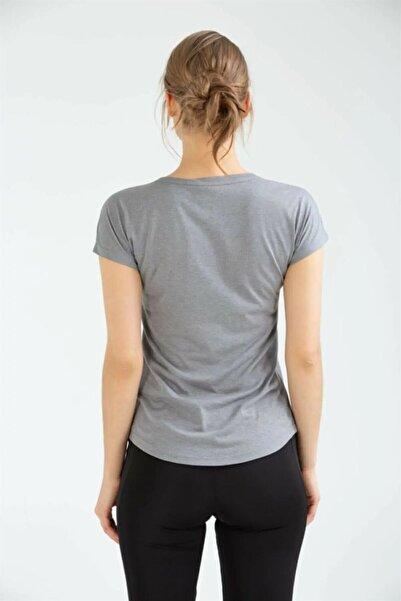 Kadın Gri Spor T-shirt Stic Singlet Vf-0005