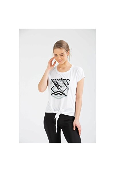 Kadın Beyaz Spor T-shirt Pei T-shirt Vf-0007