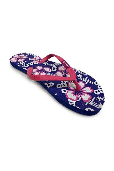 walkie Flower Mavi Flip Flop Terlik