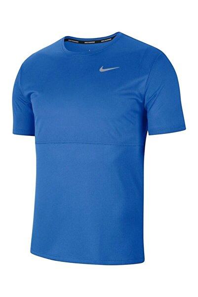 Nike Erkek Mavi Breathe Running Top Koşu Üst
