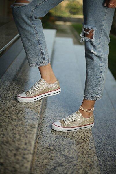 ESPARDİLE Kadın Spor Ayakkabı Gold Simli