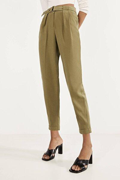 Kadın Haki Tencel ® Liyosel Harem Pantolon 00090085