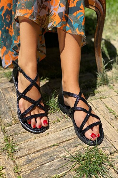 İnan Ayakkabı Siyah Kadın Sandalet INA336NLT