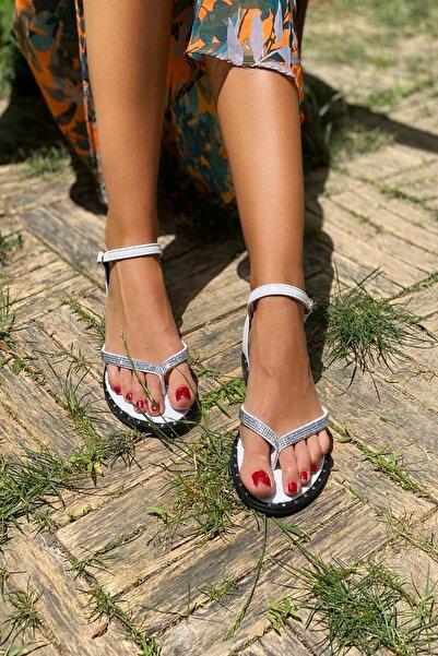 İnan Ayakkabı Beyaz Kadın Sandalet INA325NLT