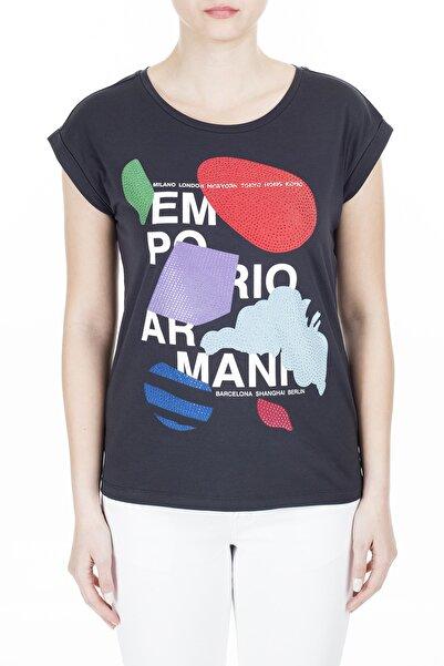 Emporio Armani Kadın Lacivert T-Shirt 3H2T6A 2Jqaz 0922