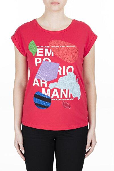 Emporio Armani Kadın Kırmızı T-Shirt 3H2T6A 2Jqaz 0334