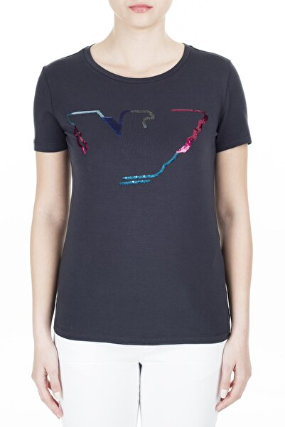Emporio Armani Kadın Lacivert T-Shirt 3H2T6C 2Jqaz 0922