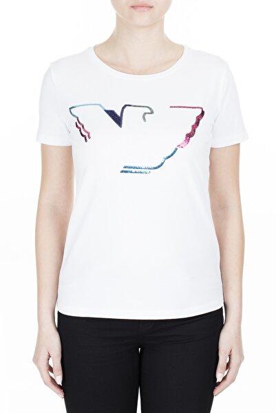 Emporio Armani Kadın Beyaz T-Shirt 3H2T6C 2Jqaz 0100
