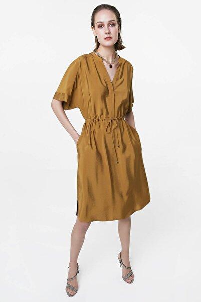 İpekyol Kadın Haki Ayarlanabilir Bel Elbise IS1200002521022