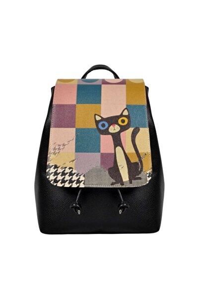Dogo Colorful Cat Kadın Günlük Sırt Çantası