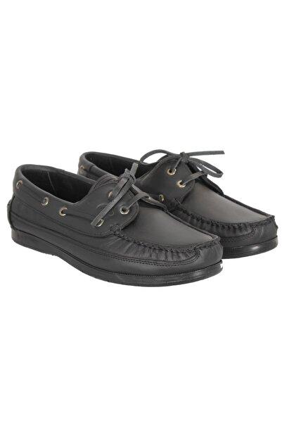 Baymen Erkek Siyah Deri  Loafer Ayakkabı